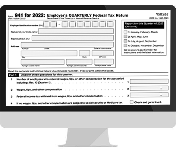 File Federal Tax Form 941 Online 941 Form E Filing